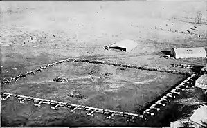 Third Army Air Service - Formation of IV Corps Observation Group aircraft, Coblenz Airdrome, Fort Kaiser Alexander, Germany in January 1919.