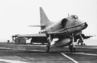 USS Kearsarge (CV-33) - A-4G Skyhawk of the Royal Australian Navy aboard Kearsarge in 1969