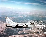 A-7E Corsair II of VA-27 in flight on 1 February 1986 (6404550).jpeg