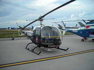 Bell 47J Ranger - Agusta-Bell AB.47J3 Ranger in Italian Carabinieri markings at Pratica di Mare AFB, Italy in 2006