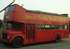 Auto & Technik Museum Sinsheim - British AEC Regent double decker bus