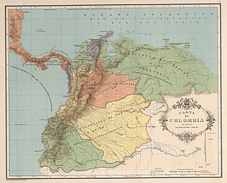 German colonization of the Americas - Image: AGHRC (1890) Carta II Divisiones coloniales de Tierra Firme, 1538