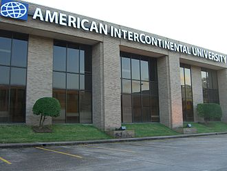 American InterContinental University - An American InterContinental University facility in Westchase, Houston, Texas, United States.