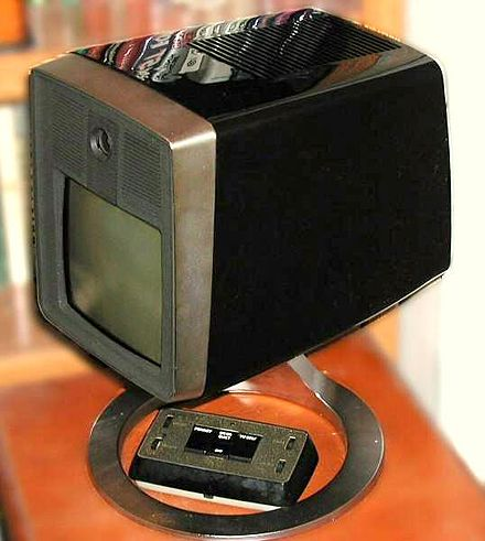 The 1969 AT&T Mod II Picturephone, the result of decades long R&D at a cost of over $500M. AT&T Picturephone - upper RH oblique view.jpg