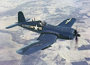 AU-1 Corsair in flight 1952.jpg