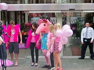 Clangers - A charity collector dressed as a Clanger in 2010