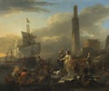 A Harbour Scene (Nicolaes Berchem) - Nationalmuseum - 17267.tif