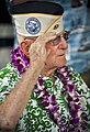 A Pearl Harbor survivor salutes. (8264508856).jpg