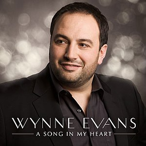 Wynne Evans - Evans on the cover of his Number 1 Album