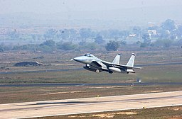 A USAF F-15C takes off from Gwalior Air Force Station during Cope India 04.JPG