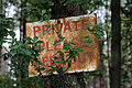 A forestry private keep out sign at Theydon Mount Essex England 03.JPG