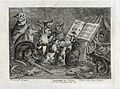 A group of cats giving a concert. Reproduction, ca 1817, of Wellcome V0021520.jpg