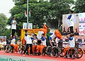 A group of young Divyangs participating in the mass performance of Yoga protocol, organised by the Ministry of AYUSH with support of partner agencies, on the occasion of the 2nd International Day of Yoga – 2016.jpg