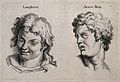 A laughing face (left) and a face expressing acute pain (rig Wellcome V0009322.jpg