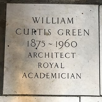 William Curtis Green - A memorial to William Curtis Green in St James's Church, Piccadilly.