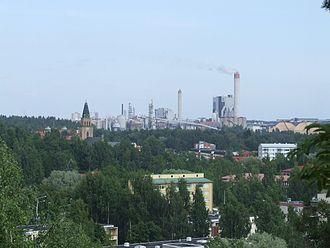 Kuusankoski - view over Kuusankoski