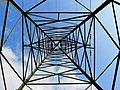 A view to the sky through a pylon, Hatherden, Hants - geograph.org.uk - 392791.jpg