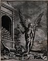 A winged figure of Death stands on top of a selection of wor Wellcome V0042164.jpg