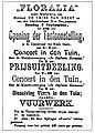 Aankondiging van de Floralia tentoonstelling, Delftsche Courant 9 september 1879.jpg