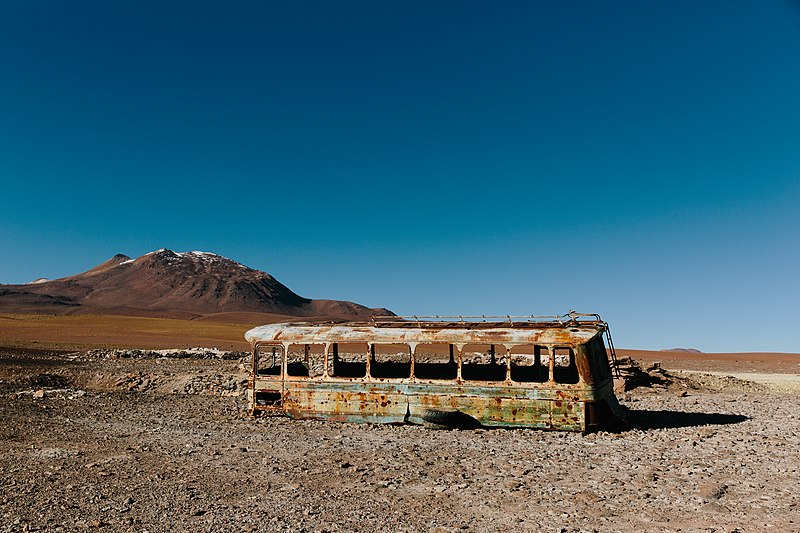 File:Abandoned bus in San Pedro de Atacama (Unsplash).jpg