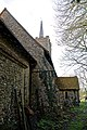 Abbess Roding - St Edmund's Church - Essex England - nave buttress and vestry at north.jpg