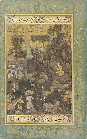 Abd al-Samad - Abd al-Samad, miniature of 1588