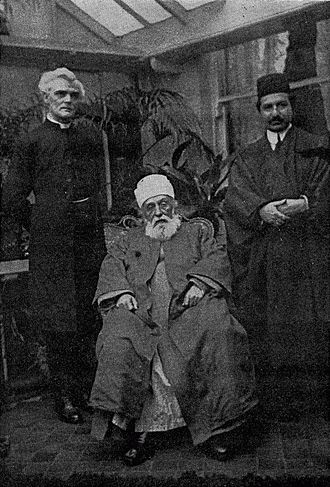 Reginald John Campbell - Campbell with `Abdu'l-Bahá in 1911
