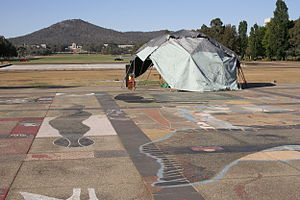 Aboriginal Embassy and Mount Ainslie 29-10-06