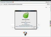 About Midori Web Browser v7 running on Ubuntu 18.jpg
