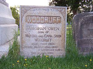 Abraham O. Woodruff - Image: Abraham O Woodruff Grave