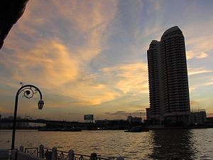 River systems of Thailand - Chao Phraya River, Bangkok.