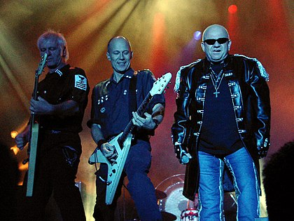 Former lead singer Udo Dirkschneider (right) during Accept's reunion tour in 2005 Accept-04.jpg