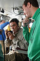 Actor Tom Selleck visiting the Bridge of the USS Ronald Reagan -- 040722-N-5621B-481.jpg