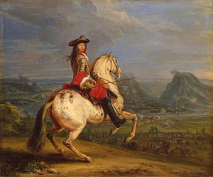 Adam Frans van der Meulen - Louis XIV at the taking of Besançon (1674).jpg