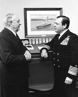 James L. Holloway III - Adm. James L. Holloway, Jr., (left) with his son, Adm. J.L. Holloway, III, CNO, in 1974.