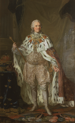 King Adolf Friedrich of Sweden in coronation robe