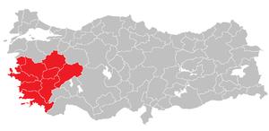 Aegean Region (statistical) - Image: Aegean Region