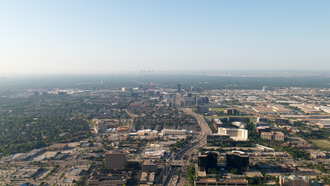 Addison, Texas - Aerial view of Addison looking south towards downtown Dallas.