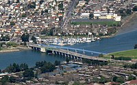 Aerial view of Bay Farm Island Bridge in 2009.jpg