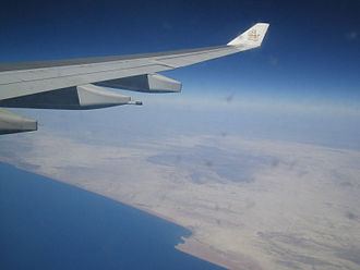 Sistan and Baluchestan Province - Aerial view of Beris on the Gulf of Oman.