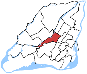 Ahuntsic-Cartierville (electoral district) - Ahuntsic-Cartierville in relation to other federal electoral districts in Montreal and Laval (2013 boundaries)