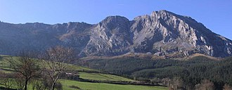 Physical geography of the Basque Country - The Aliutz mountain (Biscay)
