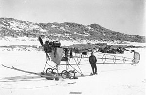 Air-tractor sledge - The air-tractor sledge in 1912