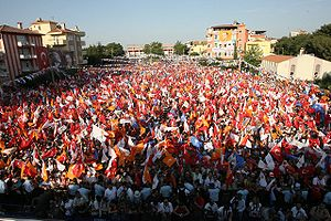Justice and Development Party (Turkey) - A rally of the Justice and Development Party in 2007