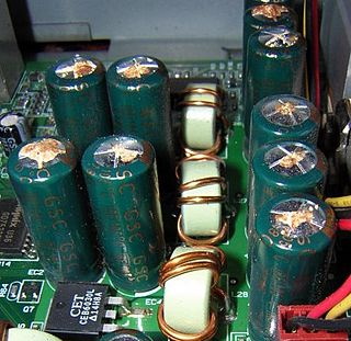 Capacitor plague high failure rate of electrolytic capacitors produced between 1999 and 2007