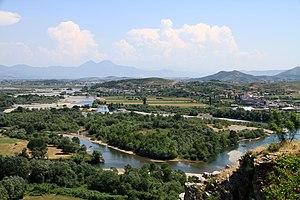 Drin (river) - Drin River Delta in Shkodër
