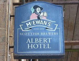 McEwan's - A McEwan's Cavalier pub sign