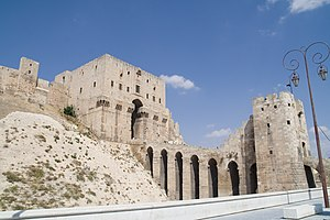 Banu Kilab - Hundreds of Kilabi tribesmen and chieftains were imprisoned in the dungeons of Aleppo's citadel (pictured) by Mansur ibn Lu'lu' in 1012. Two years later, Salih ibn Mirdas escaped the citadel, captured Mansur and exchanged him for the remaining Kilabi prisoners. In 1025, Salih captured Aleppo and made it the capital of his Mirdasid emirate.