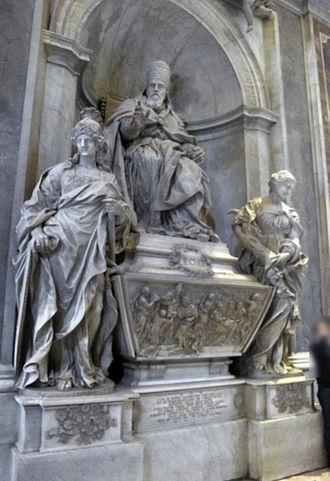 Pope Leo XI - Tomb of Leo XI in St. Peter's Basilica, by Alessandro Algardi
