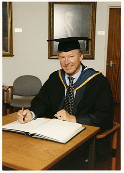 Alex Ferguson receiving honorary degree 1996